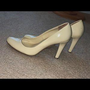 Ralph Lauren Cream Heels